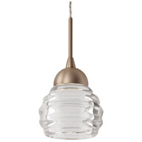 Signature LED 4 inch Vintage Brass Pendant Ceiling Light