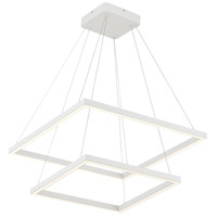 Kuzco Lighting CH85224-WH Piazza 24 inch White Chandelier Ceiling Light