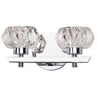 Kuzco Lighting VL54210-CH Basin LED 10 inch Chrome Vanity Light Wall Light