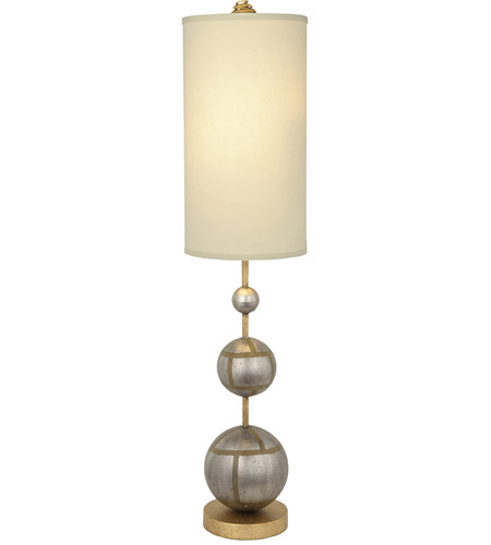Lucas + McKearn TA1104-S Marie 34 inch 60.00 watt Hand-Finished Silver with Gold Table Lamp Portable Light, Flambeau photo