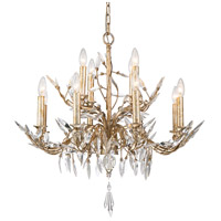 Lucas and McKearn CH6154-12 Alsace 12 Light 28 inch Silver with Antique Glaze Chandelier Ceiling Light