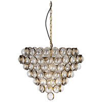 Lucas and McKearn CH9069 Bouquet 8 Light 31 inch Aged Brass Chandelier Ceiling Light, Flambeau