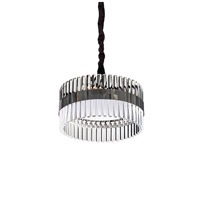 Lucas and McKearn PD9072-40 Metro 6 Light 16 inch Clear and Smokey Dark Chrome Chandelier Ceiling Light, Flambeau