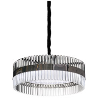 Lucas and McKearn PD9072-60 Metro 9 Light 24 inch Clear and Smokey Chrome Pendant Ceiling Light Flambeau