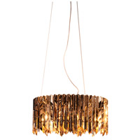 Lucas and McKearn CH9073 Peron 6 Light 24 inch Chrome/Gold Accents Chandelier Ceiling Light Flambeau