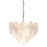 Lucas and McKearn CH9081-50 Acanthus 7 Light 20 inch Clear Textured Glass With Gold Chandelier Ceiling Light, Flambeau