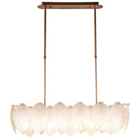 Lucas and McKearn PD9082 Acanthus 9 Light 33 inch Aged Brass Island Chandelier Ceiling Light