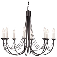 Lucas and McKearn EL/CB8 BLK Carisbrooke 8 Light Black Chandelier Ceiling Light, Elstead