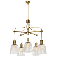 Douille LED 24 inch Aged Brass Chandelier Ceiling Light, Elstead