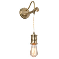 Lucas and McKearn EL/DOUILLE1 AB Douille LED 4 inch Aged Brass Sconce Wall Light Elstead