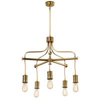 Lucas and McKearn EL/DOUILLE5 AB Douille LED 23 inch Aged Brass Chandelier Ceiling Light, Elstead