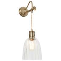Douille LED 7 inch Aged Brass Sconce Wall Light, Elstead