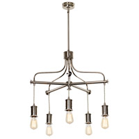 Lucas and McKearn EL/DOUILLE5 PN Douille LED 23 inch Polished Nickel Chandelier Ceiling Light, Elstead