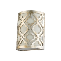 Lucas and McKearn GN/ARABELLA1-S Arabella 1 Light 4 inch Antique Silver Wall Sconce Wall Light Flambeau
