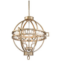 Lucas and McKearn GN/LEMURIA/3PA-S Lemuria 4 Light 23 inch Antique Silver Chandelier Ceiling Light Flambeau