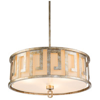 Lucas and McKearn GN/LEMURIA/P/L-S Lemuria 3 Light 22 inch Antique Silver Kitchen Island Pendant to Semi Flush Ceiling Light Flambeau
