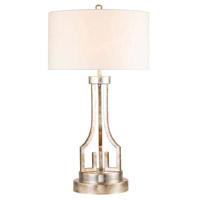 Lucas and McKearn GN/LEMURIA/TL-S Lemuria 32 inch 60 watt Antique Silver Buffet Table Lamp Portable Light Flambeau