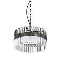 Lucas and McKearn PD9072-40 Metro 6 Light 16 inch Clear and Smokey Dark Chrome Pendant Ceiling Light, Flambeau