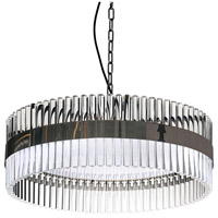 Lucas and McKearn PD9072-60 Metro 9 Light 24 inch Clear and Smokey Chrome Pendant Ceiling Light, Flambeau
