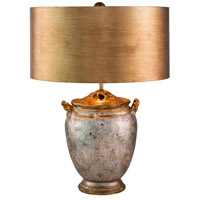 Lucas and McKearn TA1118 Jackson 24 inch 60 watt Antiqued Silver with Gold Accents Table Lamp Portable Light Flambeau