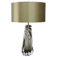Lucas and McKearn TLG3020 Dalrymple 27 inch 100 watt Clear Smokey Grey Glass Table Lamp Portable Light