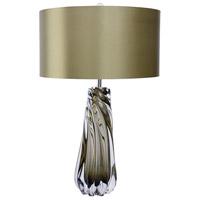 Lucas and McKearn TLG3020 Dalrymple 27 inch 100 watt Clear Smokey Grey Glass Table Lamp Portable Light