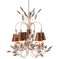 Renaissance 5 Light 34 inch Gold And Silver Outdoor Chandelier, Flambeau