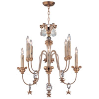 Lucas and McKearn CH1111 Mignon 8 Light 25 inch Gold and Silver with Cream Chandelier Ceiling Light, Flambeau