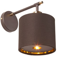 Balance 1 Light 6 inch Brown and Polished Brass Wall Sconce Wall Light, Elstead