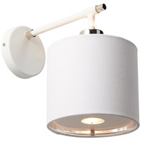 Balance 1 Light 6 inch White and Polished Nickel Wall Sconce Wall Light, Elstead