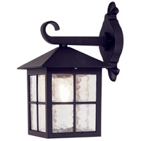 Lucas and McKearn EL/BL18 Winchester 1 Light 13 inch English Black Wall Lantern Elstead