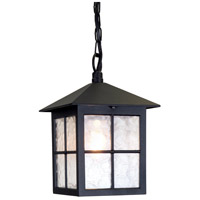Lucas and McKearn EL/BL18B Winchester 1 Light 8 inch English Black Hanging Outdoor Lantern Elstead