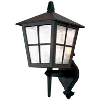 Lucas and McKearn EL/BL46M Canterbury 1 Light 18 inch English Black Wall Lantern Elstead
