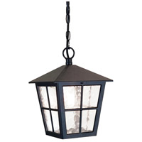 Canterbury 1 Light 9 inch English Black Hanging Outdoor Lantern, Elstead