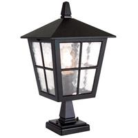 Lucas and McKearn EL/BL50M Canterbury 1 Light 15 inch English Black Pedestal Lantern Elstead