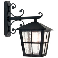 Lucas and McKearn EL/BL52M Canterbury 1 Light 16 inch English Black Wall Lantern Elstead