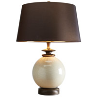Lucas and McKearn EL/CLARA Clara 24 inch 100 watt Cream Glaze Table Lamp Portable Light, Elstead