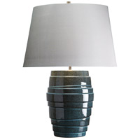 Neptune 22 inch 100 watt Blue Glaze Table Lamp Portable Light, Elstead