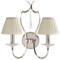 Pimlico 2 Light 14 inch Polished Nickel Wall Sconce Wall Light, Elstead
