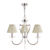 Lucas and McKearn EL/PM3 PN Pimlico 3 Light 17 inch Polished Nickel Chandelier Ceiling Light, Elstead