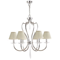 Lucas and McKearn EL/PM6 PN Pimlico 6 Light 26 inch Polished Nickel Chandelier Ceiling Light, Elstead