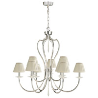Lucas and McKearn EL/PM9PN Pimlico 9 Light 34 inch Polished Nickel Chandelier Ceiling Light, Elstead