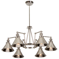 Lucas and McKearn EL/PV6 PN Provence 6 Light 19 inch Polished Nickel Chandelier Ceiling Light, Elstead