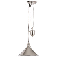 Provence 1 Light 15 inch Polished Nickel Pendant Ceiling Light, Elstead