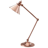 Provence 26 inch 60 watt Polished Copper Table Lamp Portable Light, Elstead