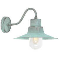 Sheldon 1 Light 9 inch Verdigris Outdoor Wall Lantern, Elstead
