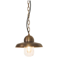 Lucas and McKearn EL/SOMERTONCHBR Somerton 1 Light 9 inch Brass Outdoor Chain Lantern, Elstead