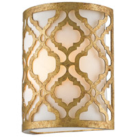 Arabella 1 Light 10 inch Distressed Gold Wall Sconce Wall Light, Gilded Nola