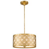 Arabella 2 Light 14 inch Distressed Gold Pendant Ceiling Light, Gilded Nola