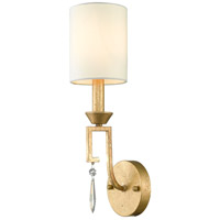 Lemuria 1 Light 5 inch Distressed Gold Sconce Wall Light, Gilded Nola
